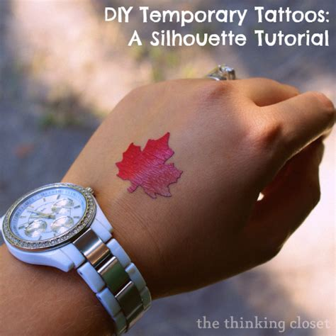 printable temporary tattoo paper silhouette specialty media project ideas unoriginal