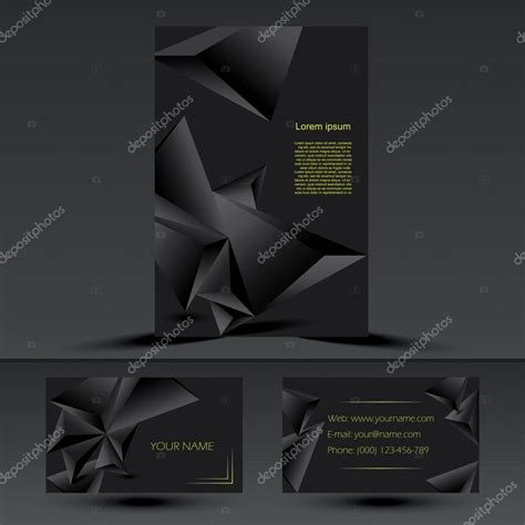 abstract black corporate brochure template or cover design
