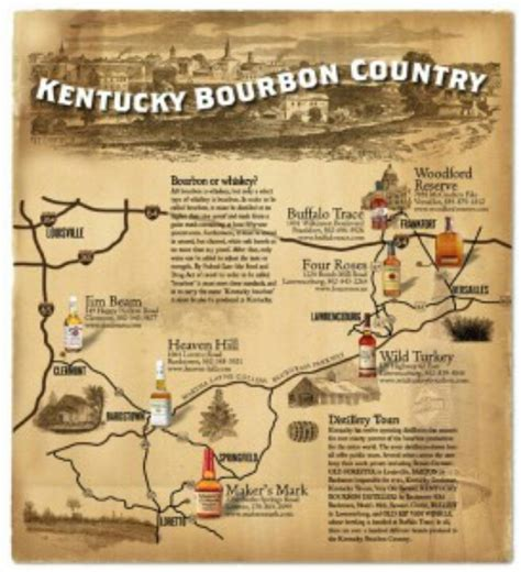 map kentucky bourbon trail kentucky bourbon trail kentucky