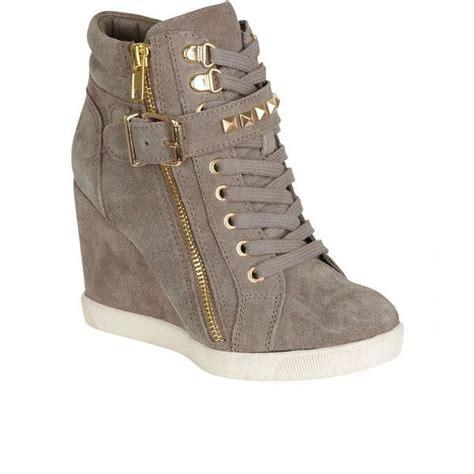 steve madden heeled sneakers steve madden obsess sneaker wedge 10080 rsd liked on