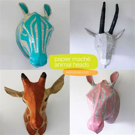 How To Make Paper Mache Wall - papier mache animal wall craft projects