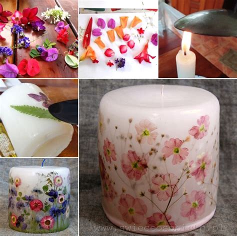 How To Decoupage A Candle - decoupage a candle with dried flowers amazing diy