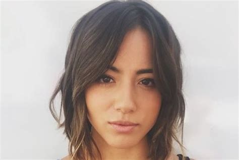 3 hairstyles to show off this season s statement earrings chloe bennet shows off new short hair for agents of shield