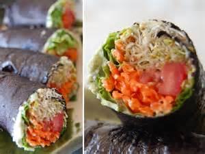 Raw vegan recipe no rice raw vegan sushi with basil and jalape 241 o