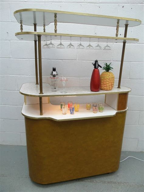 home cocktail large retro vintage 50s 60s cocktail home drinks bar