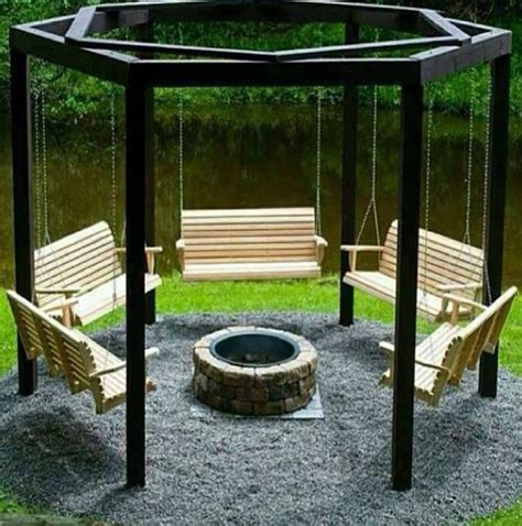 5 swing fire pit swing and fire pit heaven for the garden pinterest