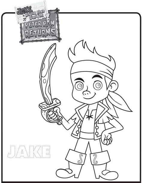 dibujos para pintar jake y los piratas dibujo de jake y los piratas de nunca jam 225 s para colorear