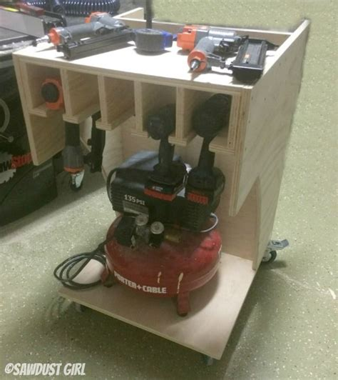 rolling tool cart  air compressor storage shop tool
