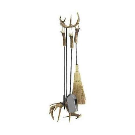 Grand River Lodge Replica Antler Handle Fireplace Tool Set Antler Fireplace Tools