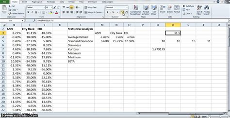 Statistics In Excel Descriptive Statistical Analysis Using Excel