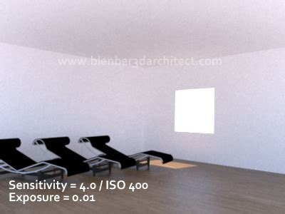 using real camera settings for architectural render in