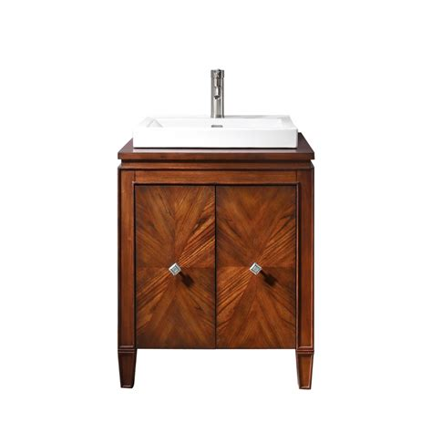 25 inch single sink bathroom vanity with semi recessed