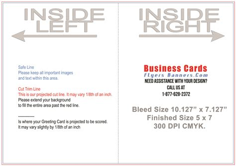 Greeting Card Templates Business Cards Flyers And Banners 5 X 7 Folded Card Template