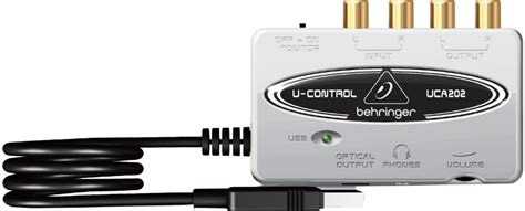 Behringer Uca 202 Audio Interface behringer uca202 u ultra low latency 2 in 2 out usb audio interface with digital output
