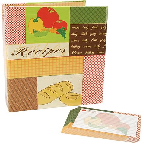 Make Cards At Walmart - recipes 3 ring scrapbook kit 5 x7 recipe cards