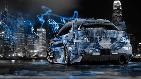 mitsubishi lancer evolution jdm anime aerography city car