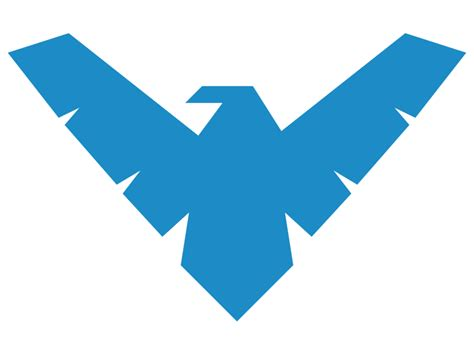 nightwing logo by machsabre on deviantart