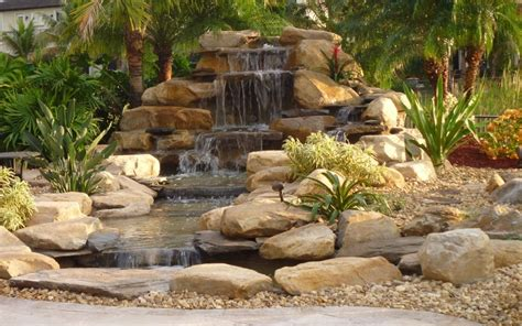backyard waterfalls pictures waterfalls striking complement to backyard layout