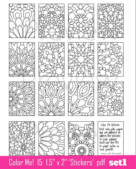 printable color stickers coloring page stickers to print 1 5 x 2 images to