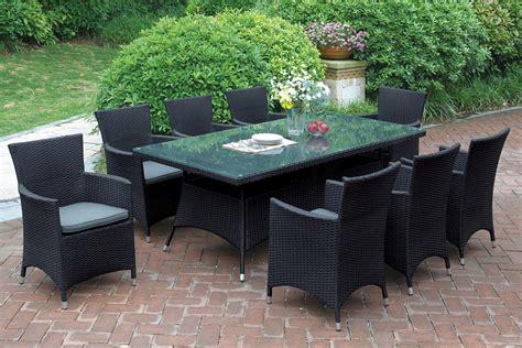 7 pcs black patio set