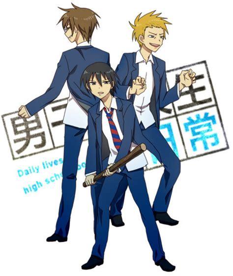 anime comedy nichijou danshi koukousei no nichijou gute comedy anime otakus