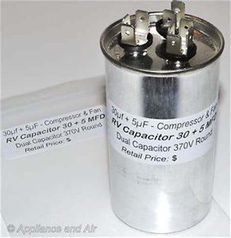 capacitor in air conditioner dometic duo therm air conditioner run dual capacitor 30 5 mfd rv cer instr ebay