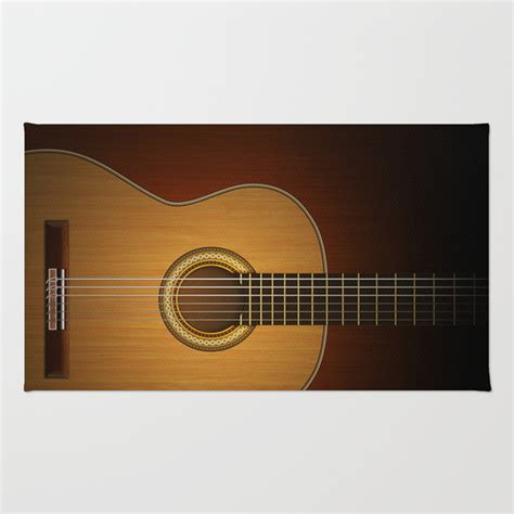 guitar area rug classic guitar rug by pepetto society6