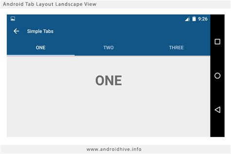 android layout landscape xml android studio swipe tabs tutorial
