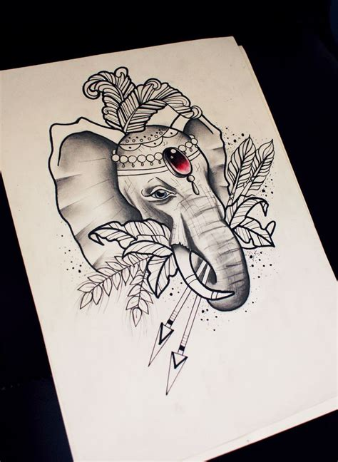 elephant tattoo neo traditional neo traditional elephant sketch tattoo ideas