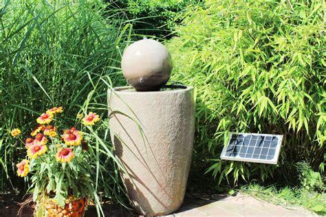 solarbrunnen garten solarbrunnen