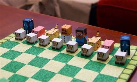 Papercraft Chess - papermau minecraft chess papercraft by pixel