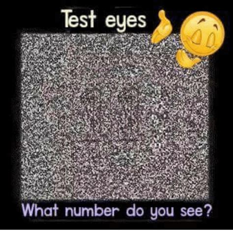 test eyes what number do you see meme on sizzle