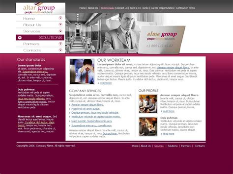 about us templates for website business group website template