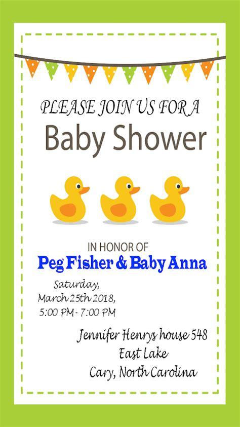 Baby Shower Invitation Maker by Baby Shower Invitation Maker Android Apps On Play