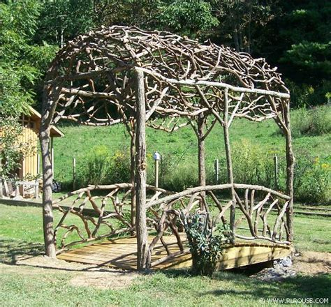 Garden Arch Made From Branches How To Make A Rustic Wedding Arbor Studio Design