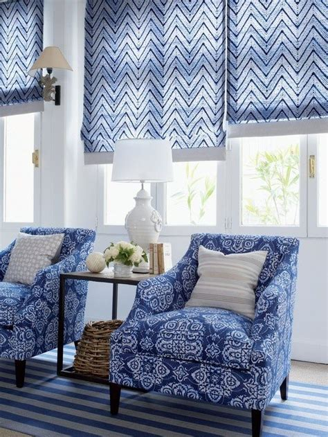 patterned fabric roman shades 943 best images about blue and white on pinterest indigo