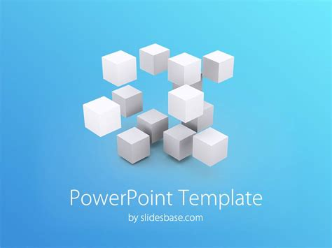 templates for powerpoint free 3d 3d cubes powerpoint template slidesbase
