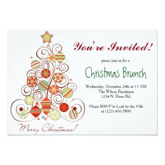 christmas brunch invitations amp announcements zazzle