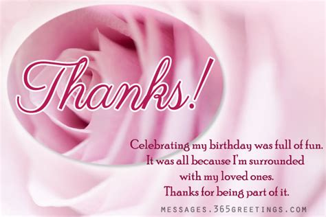 Thank You Card For Birthday Wishes Birthday Thank You Notes 365greetings Com