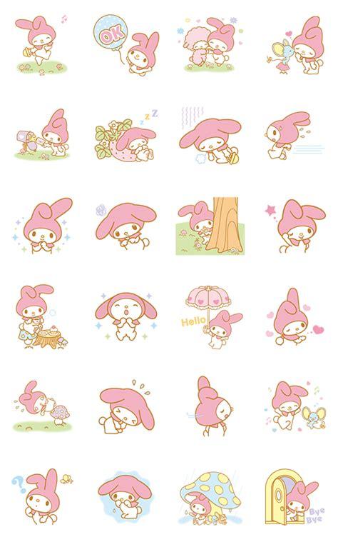 Sticker Premium Sanrio Set my melody animated stickers line stickers