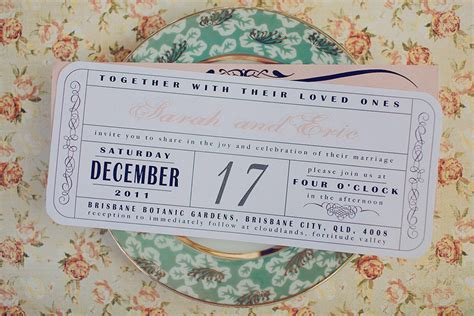 DIY wedding ideas for budget savvy brides vintage ticket