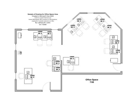 draw floor plan in microsoft word sle office drawing ms visio 2003