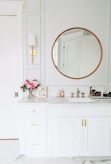 interior bathroom gold accents fixtures