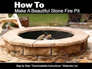 How to make a beautiful stone fire pit
