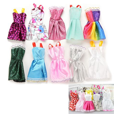 10pcs handmade clothes fashion dress for doll