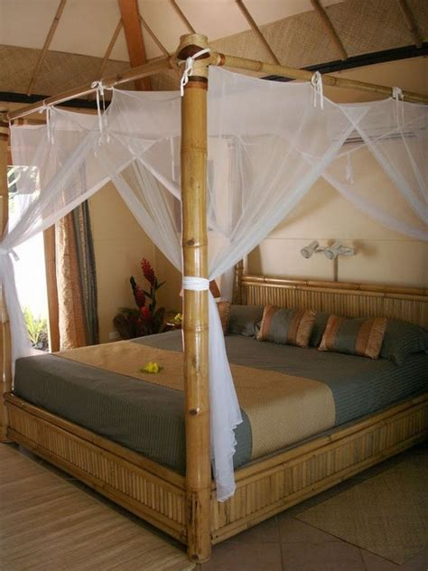 bamboo canopy bed canopies bamboo and the canopy on pinterest