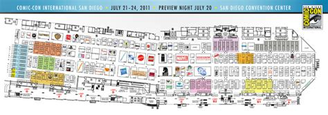 sdcc map comic con exhibit listings and map for sdcc 2011 now