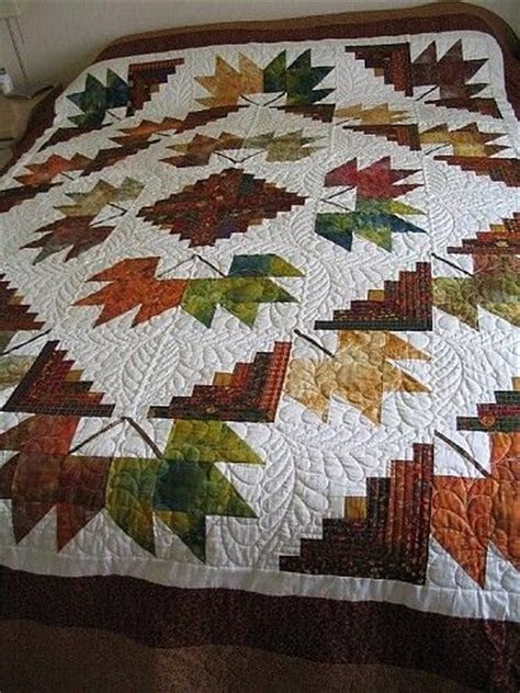 leaf pattern for quilting 17 best images about log cabin quilt patterns on pinterest