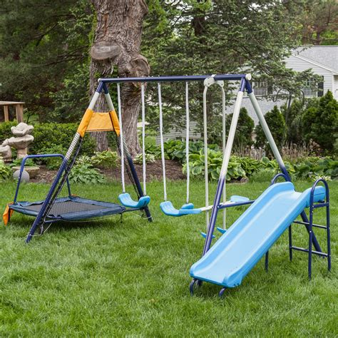 swing set metal frame ascend a frame metal swing set with troline swing
