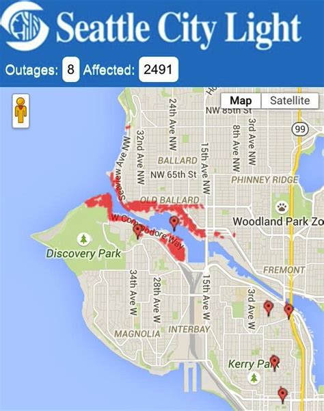 Seattle City Light Outages by Ballard 187 Seattle City Light Explains Power Outage Last